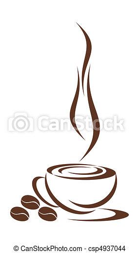 コーヒー, cup. - csp4937044