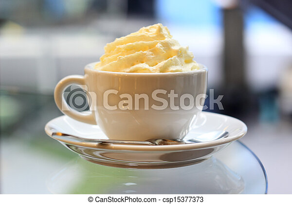コーヒー, latte, エスプレッソ, 犯罪者, panna - csp15377373