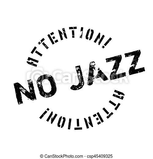 ゴム製 スタンプ, ジャズ, いいえ - csp45409325