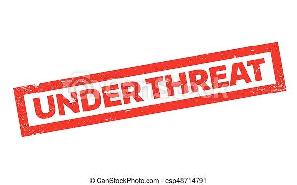 ゴム製 スタンプ, 脅威, 下に - csp48714791