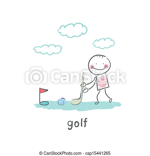 ゴルフ - csp15441265