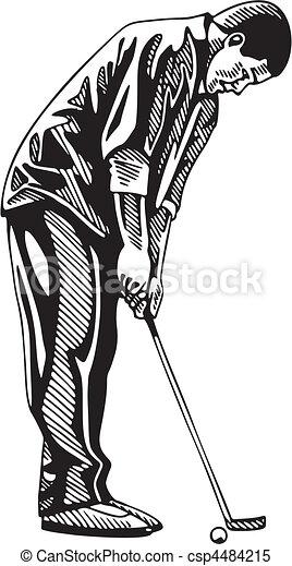 ゴルフ - csp4484215