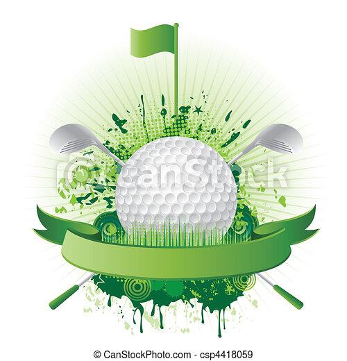 ゴルフ, 要素, デザイン - csp4418059
