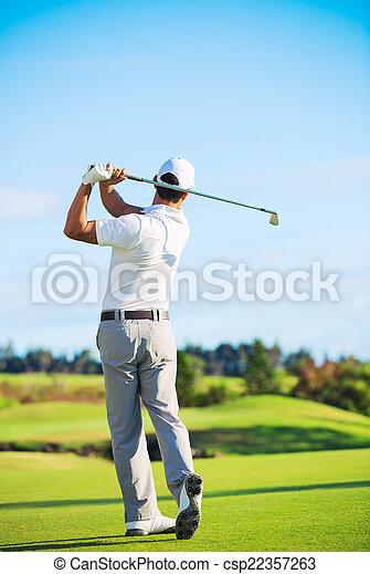 ゴルフ, 遊び, 人 - csp22357263