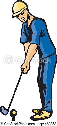ゴルフ - csp4460353