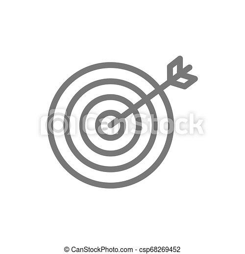 ゴール, ビジネス, 選択, 線, icon., ターゲット - csp68269452