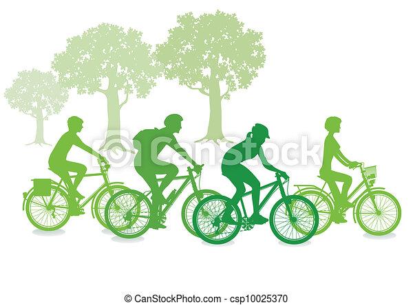 サイクリング, 緑 - csp10025370