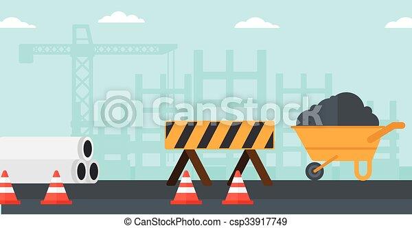 サイト。, 建設, 背景 - csp33917749