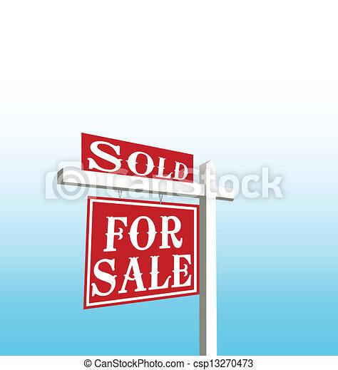 サインを売った, ベクトル, セール - csp13270473