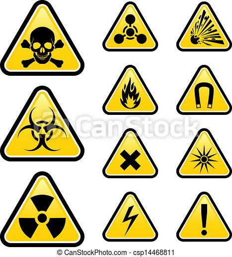 サイン, 危険 - csp14468811