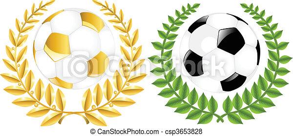 サッカー, 2, ボール, 包む - csp3653828