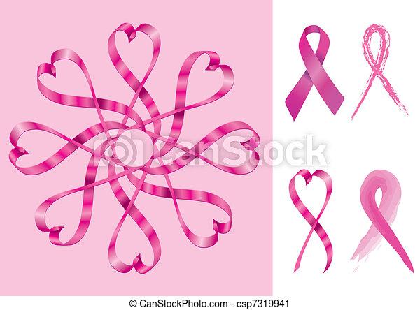 サポート, リボン, 乳がん - csp7319941