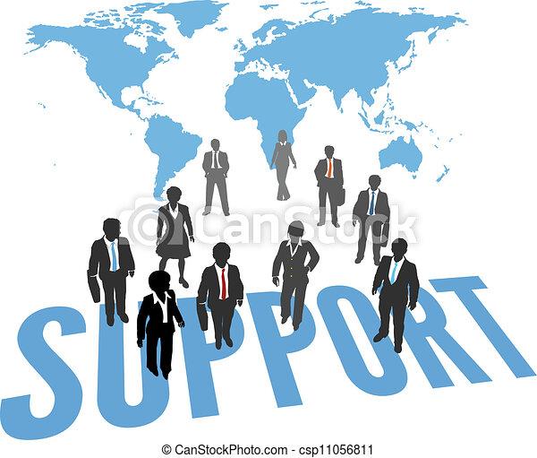 サポート, 人々ビジネス, サービス, 世界 - csp11056811
