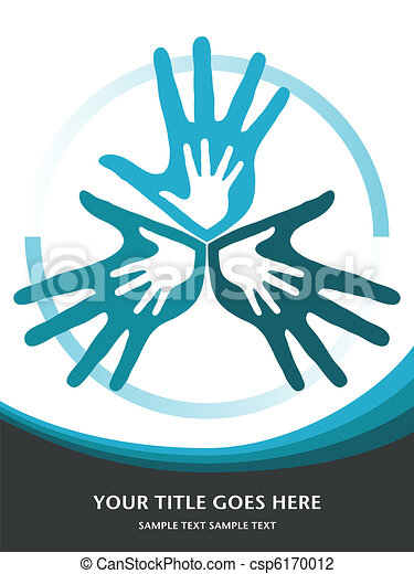 サポート, 愛, 家族, design. - csp6170012