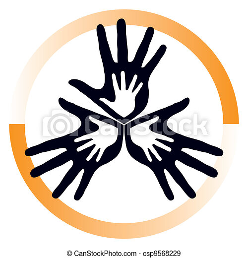 サポート, 愛, vector., 家族 - csp9568229