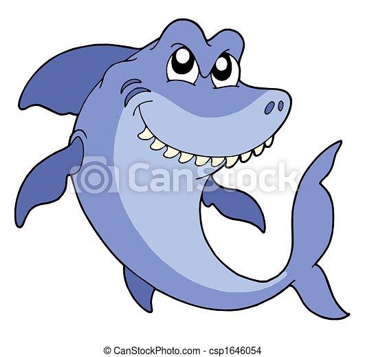 サメ, 微笑 - csp1646054