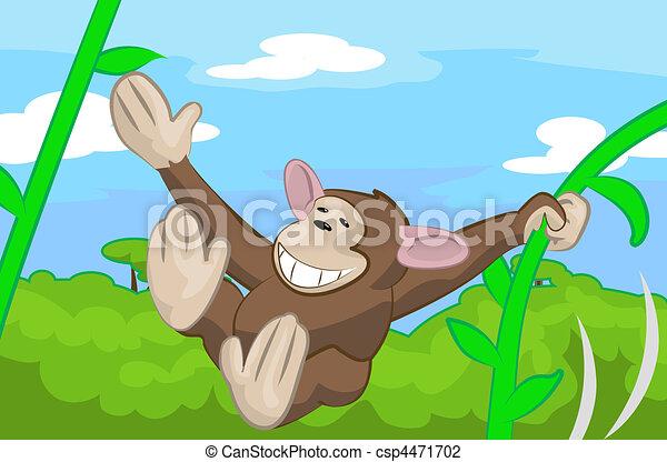 サル, イラスト, かわいい - csp4471702