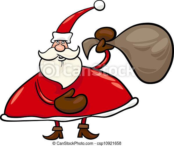 サンタクロース 袋 イラスト 漫画 サンタクロース パパ イラスト あるいは プレゼント 袋 ノエル 漫画 クリスマス