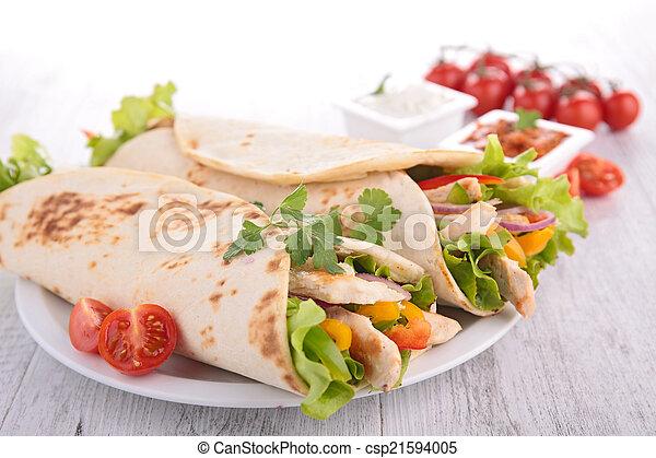 サンドウィッチを包みなさい - csp21594005