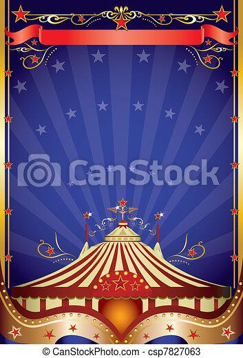 サーカスの大テント, 夜 - csp7827063