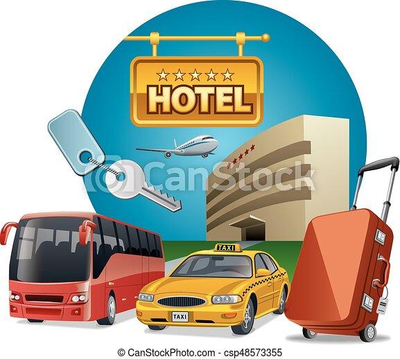 サービス, ホテル, 輸送 - csp48573355