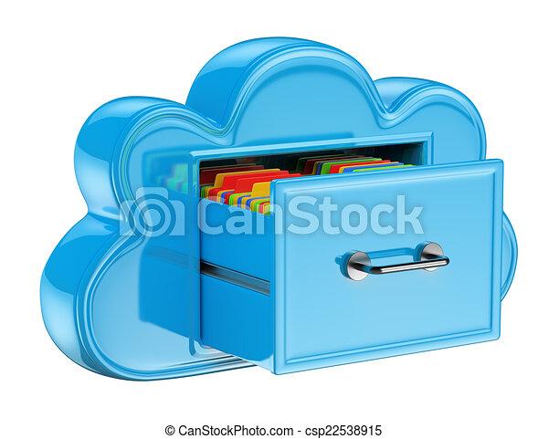サービス, 概念, 貯蔵, 雲, 3d - csp22538915