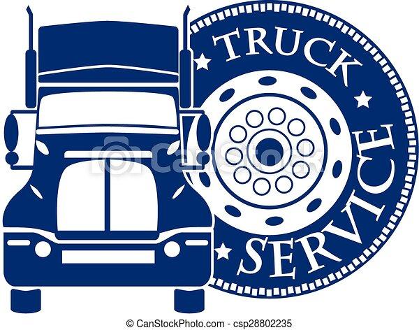 サービス, 自動車, イラスト, ベクトル, デザイン, トラック, hevy - csp28802235