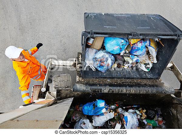 サービス, 都市, リサイクル, ごみ - csp15356325