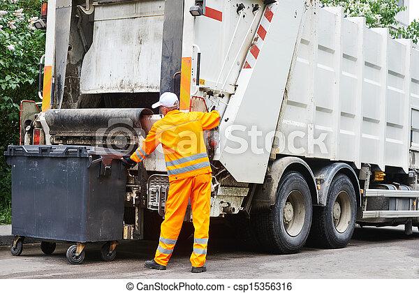 サービス, 都市, リサイクル, 無駄, ごみ - csp15356316