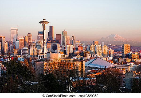シアトル, 州, ワシントン - csp10829382