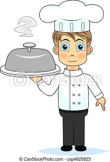 シェフ, かわいい, 提出すること, 男の子, 食事 - csp4925823