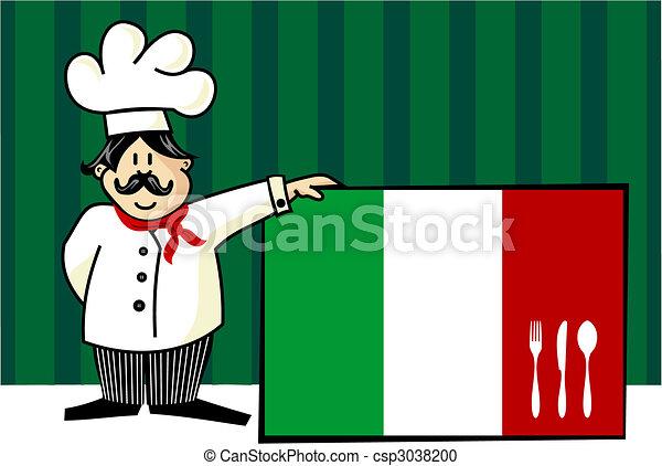 シェフ, 料理, イタリア語 - csp3038200