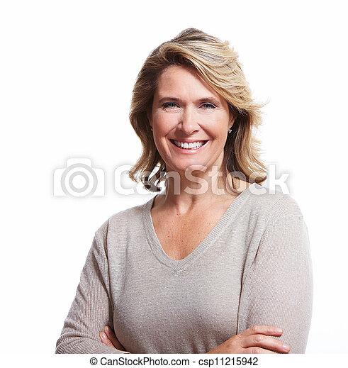 シニア, woman., 幸せ - csp11215942