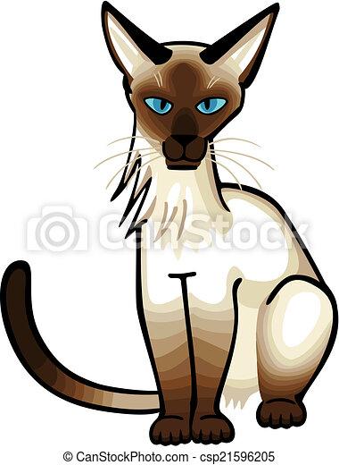 シャム 猫 ベクトル イラスト モデル