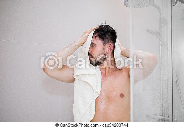 シャワー, 人 - csp34200744
