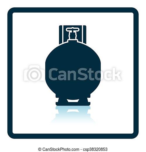シリンダー, ガス, アイコン - csp38320853