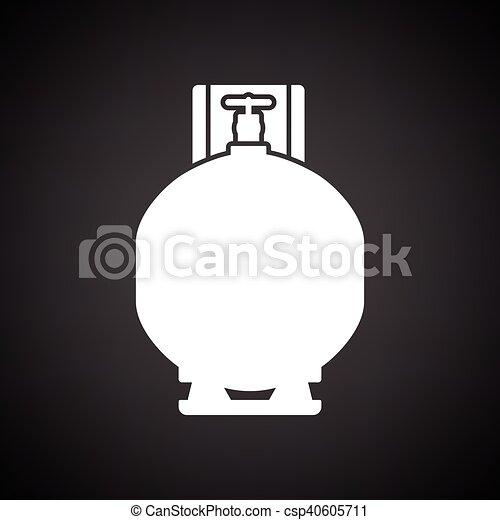 シリンダー, ガス, アイコン - csp40605711
