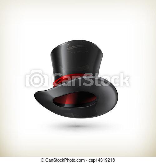 シリンダー, ベクトル, 帽子 - csp14319218