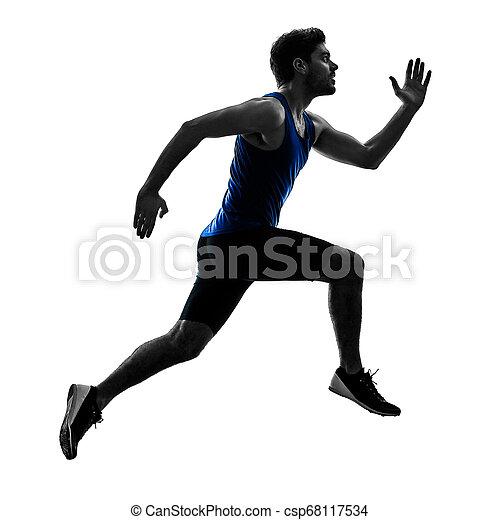 シルエット, スプリント, ランナー, スプリンター, 動くこと, 運動競技, 人, isola - csp68117534