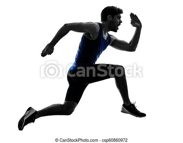 シルエット, スプリント, ランナー, スプリンター, 動くこと, 運動競技, 人, isola - csp60860972