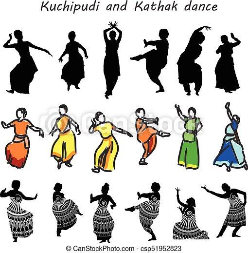 シルエット, ダンサー, indian - csp51952823