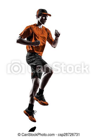 シルエット, ランナー, 動くこと, ジョガー, ジョッギング, 人 - csp28726731