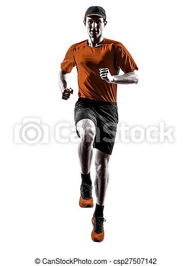 シルエット, ランナー, 動くこと, ジョガー, ジョッギング, 跳躍, 人 - csp27507142
