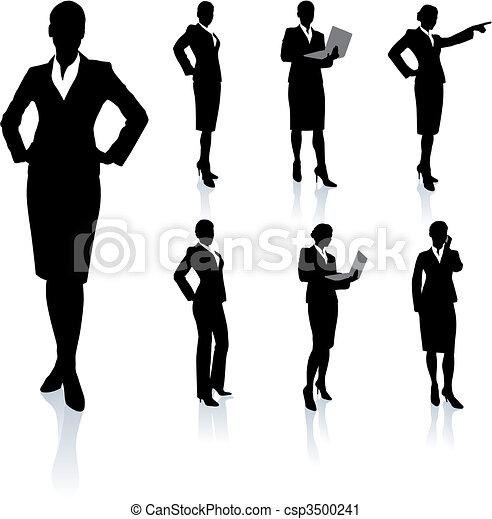 シルエット, 女性実業家, コレクション - csp3500241
