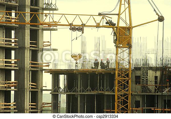 シルエット, 建築作業員 - csp2913334