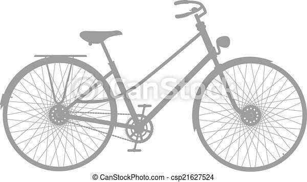 シルエット, 自転車, 型 - csp21627524