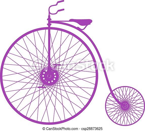 シルエット, 自転車, 型 - csp28873625