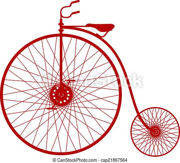 シルエット, 自転車, 型 - csp21867564