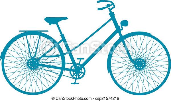 シルエット, 自転車, 型 - csp21574219