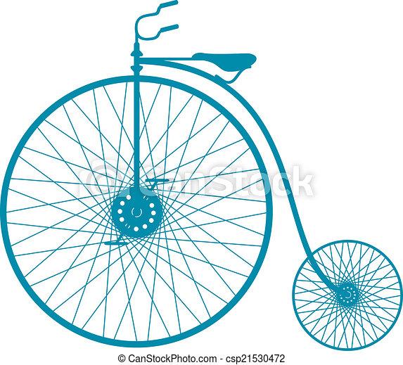 シルエット, 自転車, 型 - csp21530472